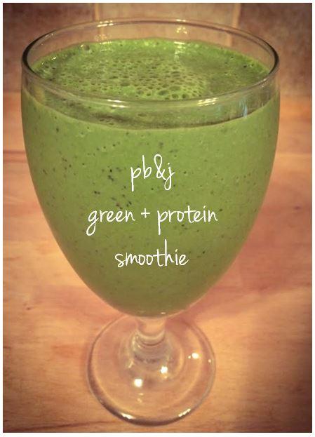 PB&J Green Protein Smoothie