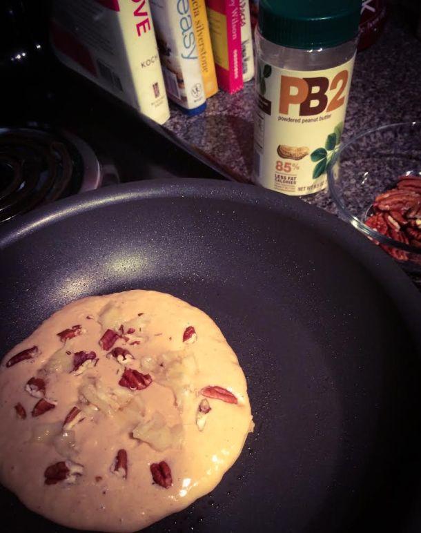 Peanut Butter, Banana, and Pecan Pancakes 1