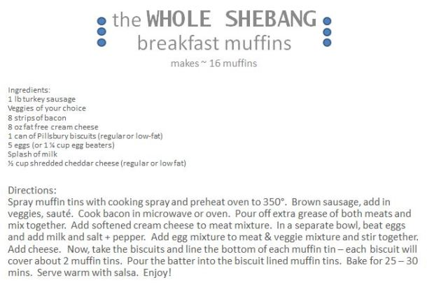 The Whole Shebang Breakfast Muffins